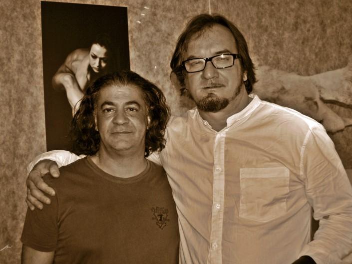 curatore dr Pierluigi Luise i Artur Skorupski w Albenga ( Italia)